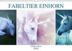 Fabeltier Einhorn (Wandkalender 2019 DIN A3 quer) von Brunner-Klaus,  Liselotte