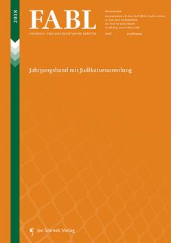FABL – Fremden- und Asylrechtliche Blätter von Brandl,  Ulrike, Feik,  Rudolf, Gruber,  Gunther, Maier,  Gernot