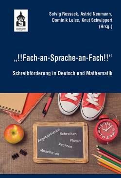 """!!Fach-an-Sprache-an-Fach!!"" von Leiss,  Dominik, Neumann,  Astrid, Rossack,  Solvig, Schwippert,  Knut"