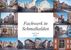 Fachwerk in Schmalkalden (Wandkalender 2021 DIN A2 quer) von N.,  N.