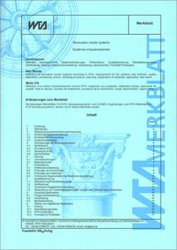 Fachwerkinstandsetzung nach WTA II: Checkliste zur Instandsetzungsplanung und -durchführung.