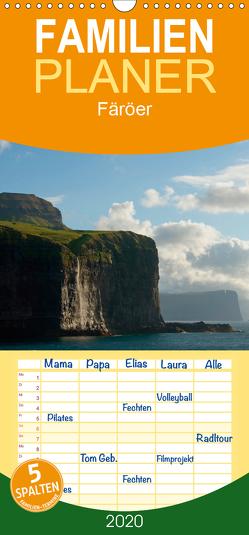 Färöer – Familienplaner hoch (Wandkalender 2020 , 21 cm x 45 cm, hoch) von Scholz,  Frauke