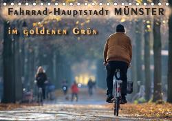Fahrrad-Hauptstadt MÜNSTER im goldenen Grün (Tischkalender 2021 DIN A5 quer) von Gross,  Viktor