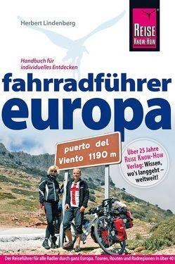Fahrradführer Europa von Lindenberg,  Herbert