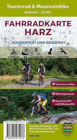 Fahrradkarte Harz von Bernhard,  Spachmüller, Thorsten,  Schmidt