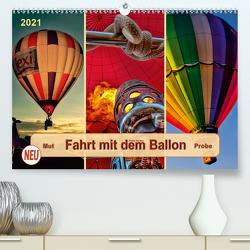 Fahrt mit dem Ballon, Mut-Probe (Premium, hochwertiger DIN A2 Wandkalender 2021, Kunstdruck in Hochglanz) von Roder,  Peter