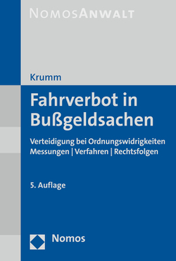 Fahrverbot in Bußgeldsachen von Krumm,  Carsten