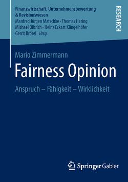 Fairness Opinion von Zimmermann,  Mario