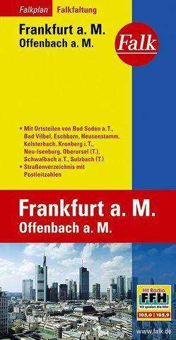 Falk Falkplan Falkfaltung Frankfurt a.M./Offenbach a.M. 1:16 500-1:27 500