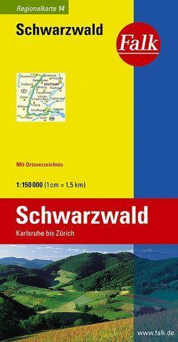 Falk Regionalkarte Deutschland Blatt 14 Schwarzwald 1:150 000