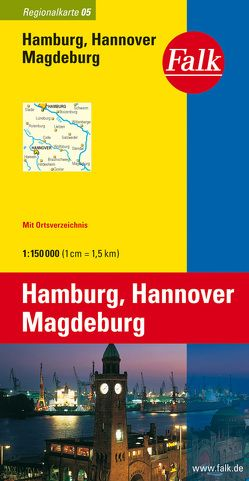 Falk Regionalkarte Deutschland Blatt 5 Hamburg, Hannover, Magdeburg 1:150 000