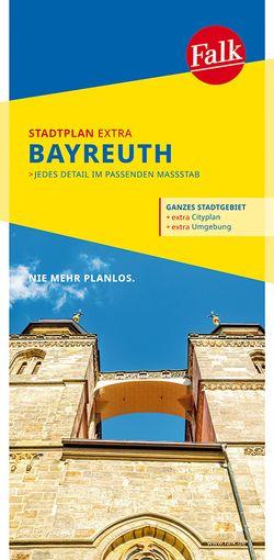 Falk Stadtplan Extra Standardfaltung Bayreuth mit Ortsteilen von Bindlach