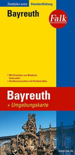 Falk Stadtplan Extra Standardfaltung Bayreuth mit Ortsteilen von Bindlach, Ecker