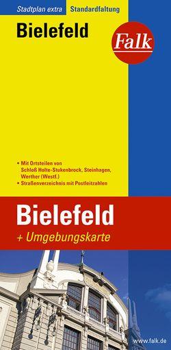 Falk Stadtplan Extra Standardfaltung Bielefeld mit Ortsteilen von