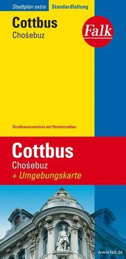 Falk Stadtplan Extra Standardfaltung Cottbus (Cho?ebuz) 1:17 500