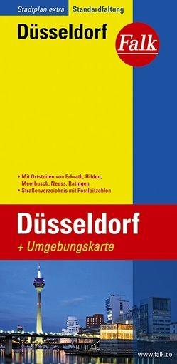 Falk Stadtplan Extra Standardfaltung Düsseldorf mit Ortsteilen von Erkrath