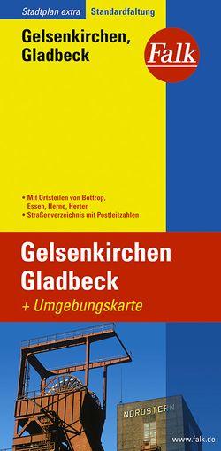 Falk Stadtplan Extra Standardfaltung Gelsenkirchen, Gladbeck mit Ortsteilen von