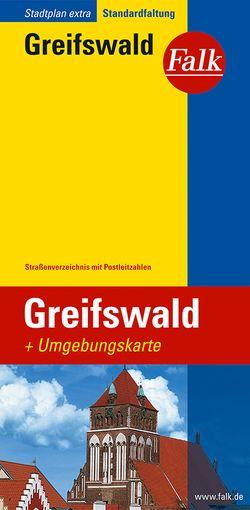 Falk Stadtplan Extra Standardfaltung Greifswald 1:15 000