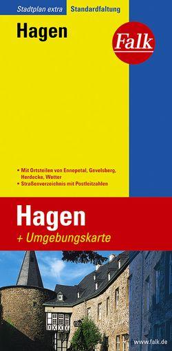 Falk Stadtplan Extra Standardfaltung Hagen 1:20 00