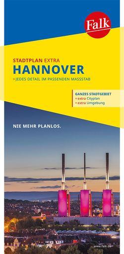 Falk Stadtplan Extra Standardfaltung Hannover 1:20 000