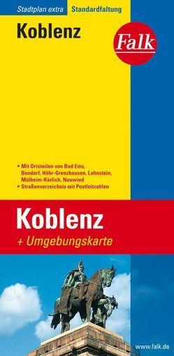Falk Stadtplan Extra Standardfaltung Koblenz mit den Ortsteilen von Bad Ems, Ben