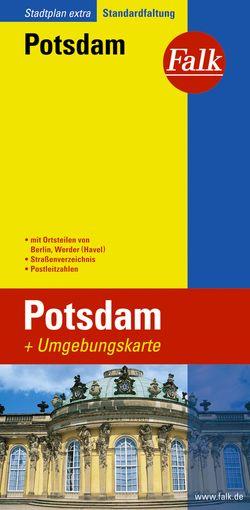 Falk Stadtplan Extra Standardfaltung Potsdam mit Ortsteilen von Berlin, Werder