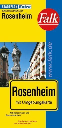 Falk Stadtplan Extra Standardfaltung Rosenheim Ortsteilen von Großkarolinenfeld