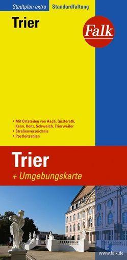 Falk Stadtplan Extra Standardfaltung Trier mit den Ortsteilen von Aach, Gusterat
