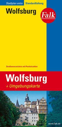 Falk Stadtplan Extra Standardfaltung Wolfsburg 1:21 000