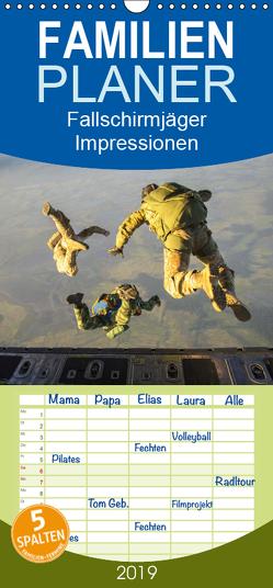 Fallschirmjäger. Impressionen von Mensch und Material – Familienplaner hoch (Wandkalender 2019 , 21 cm x 45 cm, hoch) von Lehmann (Hrsg.),  Steffani