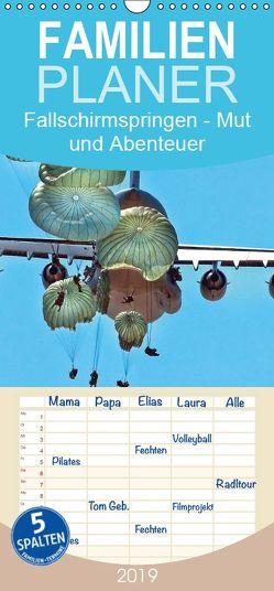 Fallschirmspringen – Mut und Abenteuer – Familienplaner hoch (Wandkalender 2019 , 21 cm x 45 cm, hoch) von Roder,  Peter