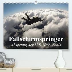 Fallschirmspringer. Absprung der U.S. Navy Seals (Premium, hochwertiger DIN A2 Wandkalender 2020, Kunstdruck in Hochglanz) von Stanzer,  Elisabeth