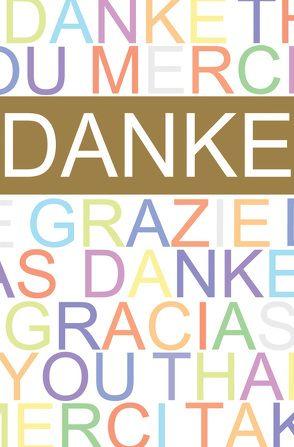 """Faltkarte """"Danke"""" Schrift – 5 Stück"""