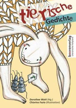 Faltplan tierische Gedichte von Wahl,  Dorothee