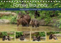 Familie Braunbär – Kräftemessen im kühlen Nass (Tischkalender 2018 DIN A5 quer) von Photo4emotion.com,  k.A.