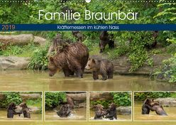 Familie Braunbär – Kräftemessen im kühlen Nass (Wandkalender 2019 DIN A2 quer) von Photo4emotion.com