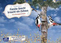 Familie Specht braucht ein Zuhaus. Kamishibai Bildkartenset. von Maywald,  Eva-Maria