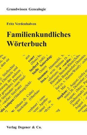 Familienkundliches Wörterbuch von Verdenhalven,  Fritz
