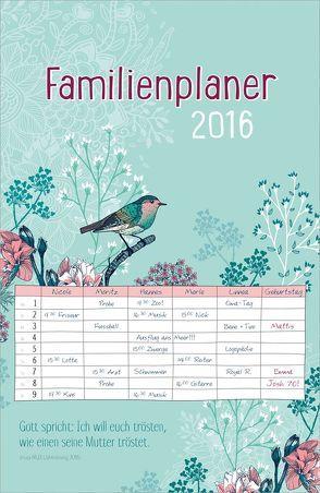 Familienplaner 2016 von Plato,  Hanni