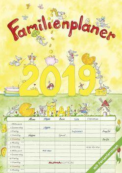 Familienplaner 2019 – A3-Bildkalender von ALPHA EDITION, Leskin,  Silke