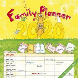 Familienplaner 2020 – Broschürenkalender (30 x 60 geöffnet) – Wandkalender – mit 6 Spalten – mit Ferienterminen – Wandplaner von ALPHA EDITION, Leskin,  Silke