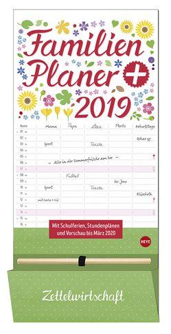 Familienplaner plus Tasche – Kalender 2019 von Heye