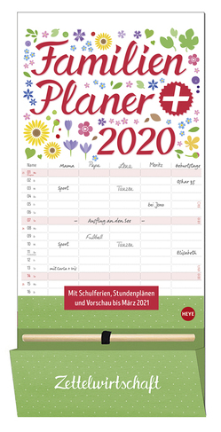 Familienplaner plus Tasche Kalender 2020 von Heye