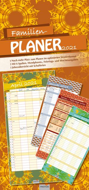 """FAMILIENPLANER """"RETRO"""" Kalender 2021 von PHOTON Verlag"""