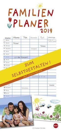 Familienplaner zum Selbstgestalten – Kalender 2019 von Heye