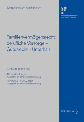 Familienvermögensrecht: Berufliche Vorsorge – Güterrecht – Unterhalt von Fountoulakis,  Christiana, Jungo,  Alexandra