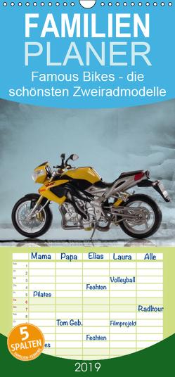 Famous Bikes – die schönsten Zweiradmodelle – Familienplaner hoch (Wandkalender 2019 , 21 cm x 45 cm, hoch) von Huschka,  Klaus-Peter