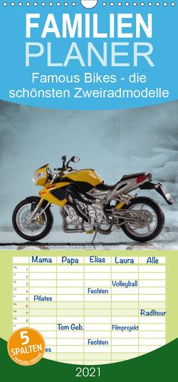 Famous Bikes – die schönsten Zweiradmodelle – Familienplaner hoch (Wandkalender 2021 , 21 cm x 45 cm, hoch) von Huschka,  Klaus-Peter