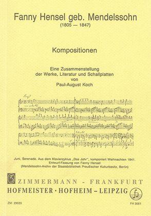 Fanny Hensel geb. Mendelssohn: Kompositionen von Koch,  Paul A