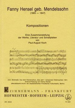 Fanny Hensel von Koch,  Paul A